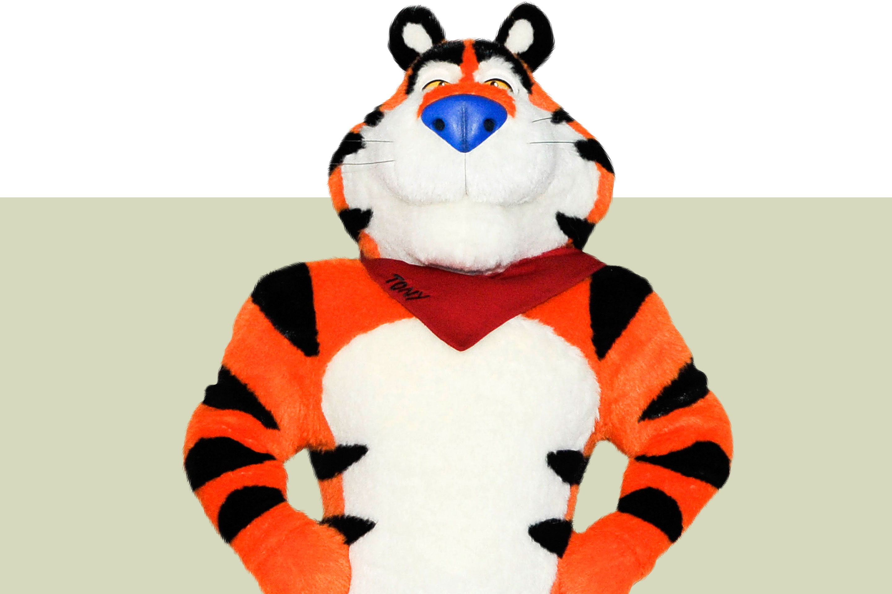 Tony The Tiger during a press conference debuting his new look on September 15, 2016 in New York City.