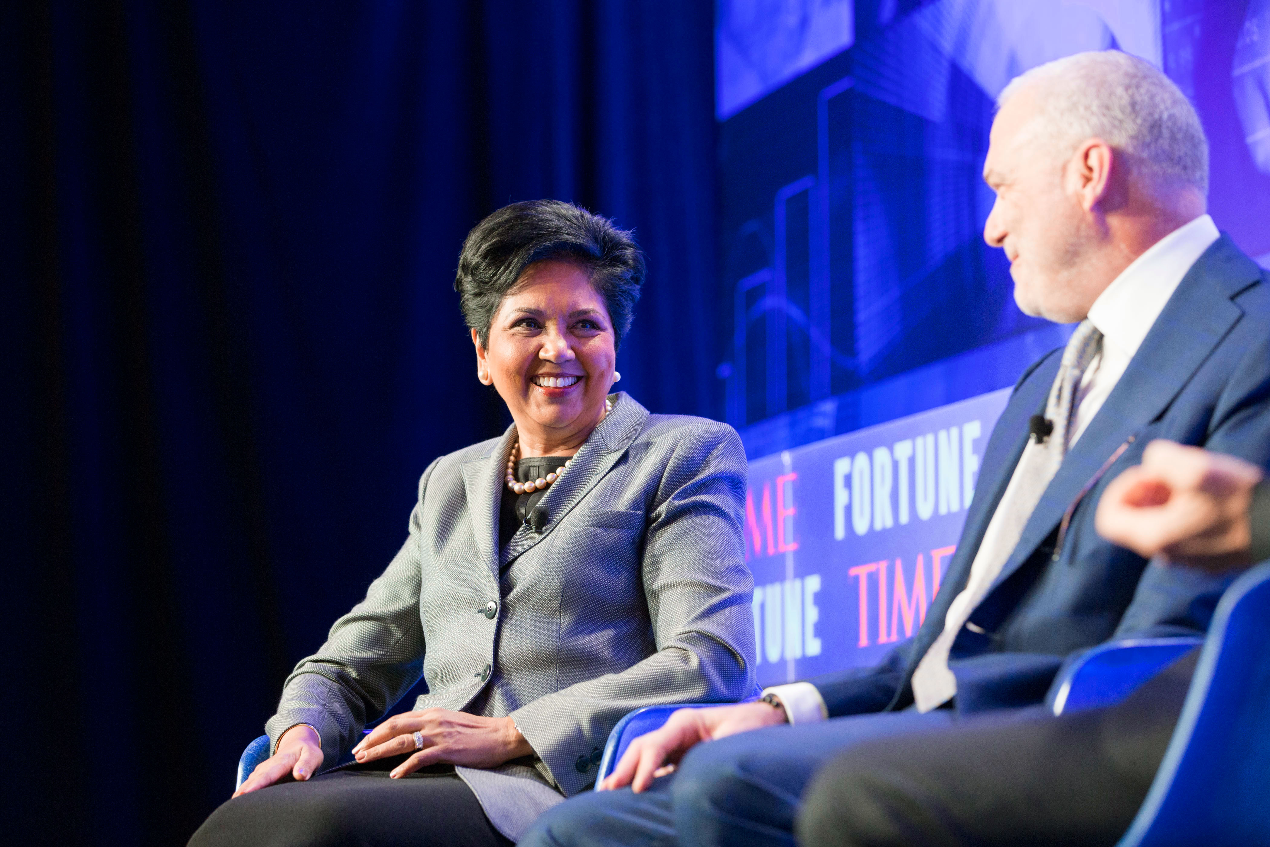 Indra Nooyi at the Fortune CEO Initiative 2017.