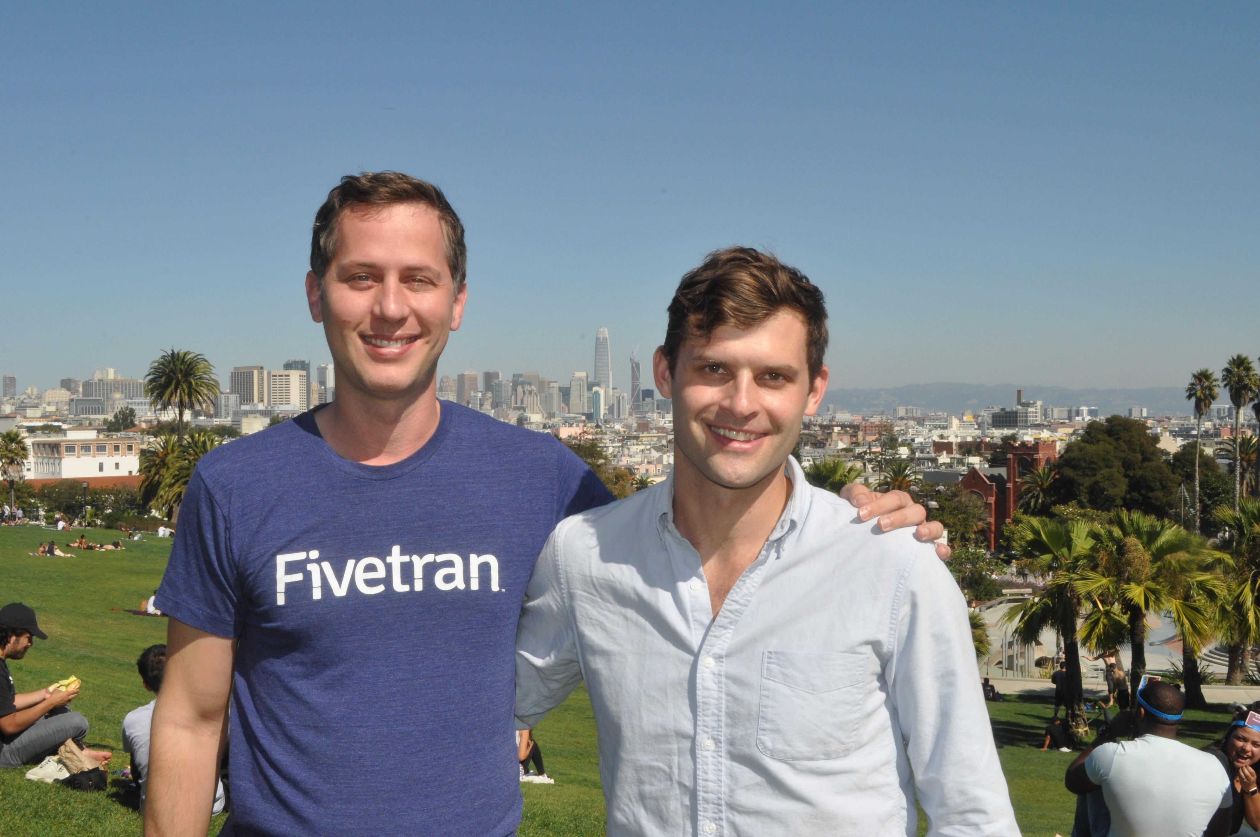 Fivetran founders. George Fraser (left) and Taylor Brown.