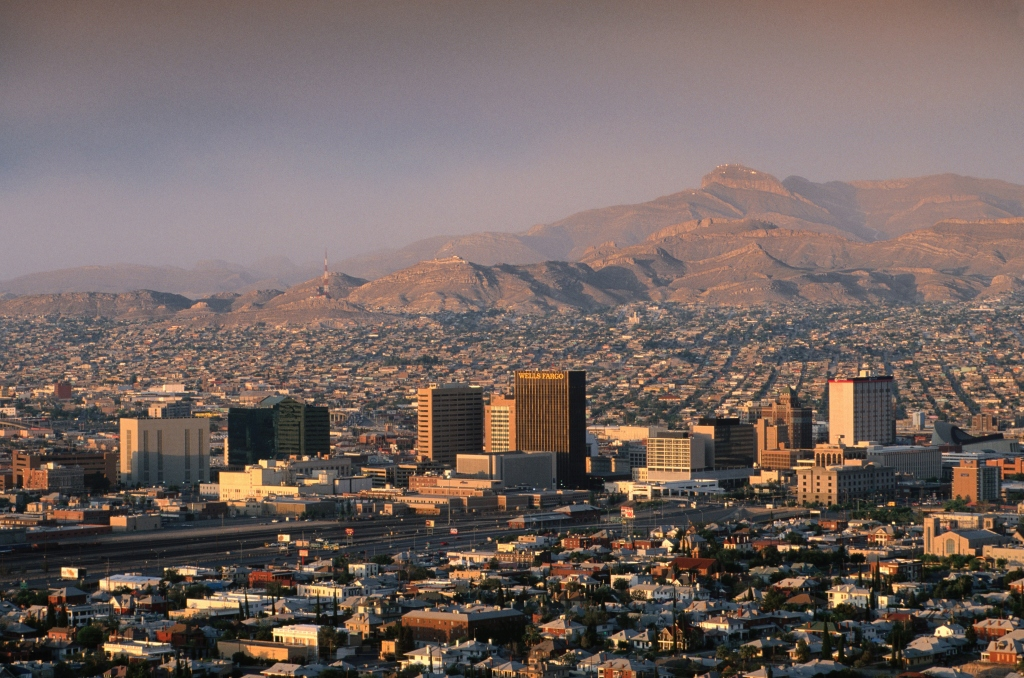 Overhead of El Paso, seen from Murchison Park.