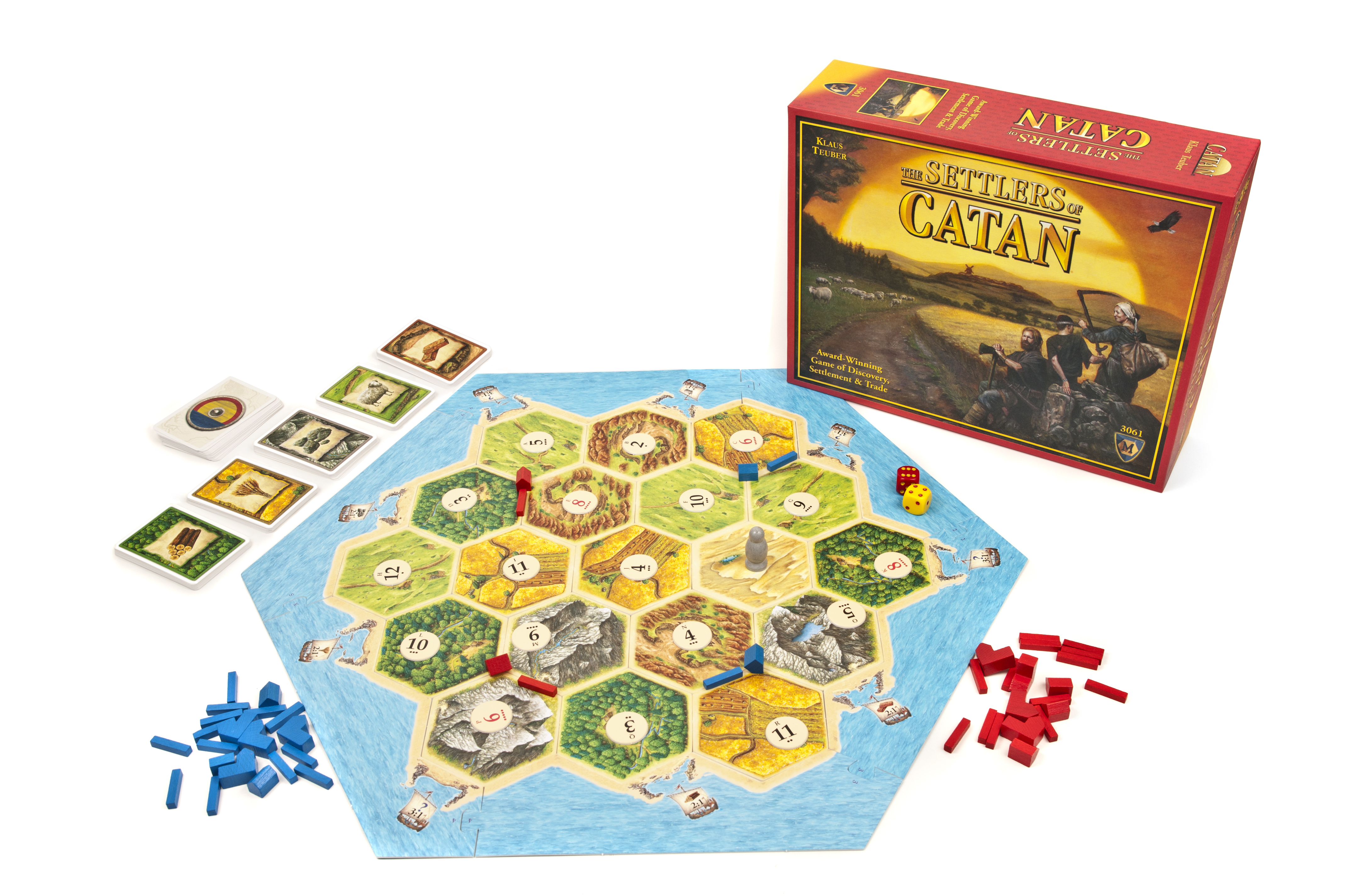 Settlers of Catan Game Board and Box