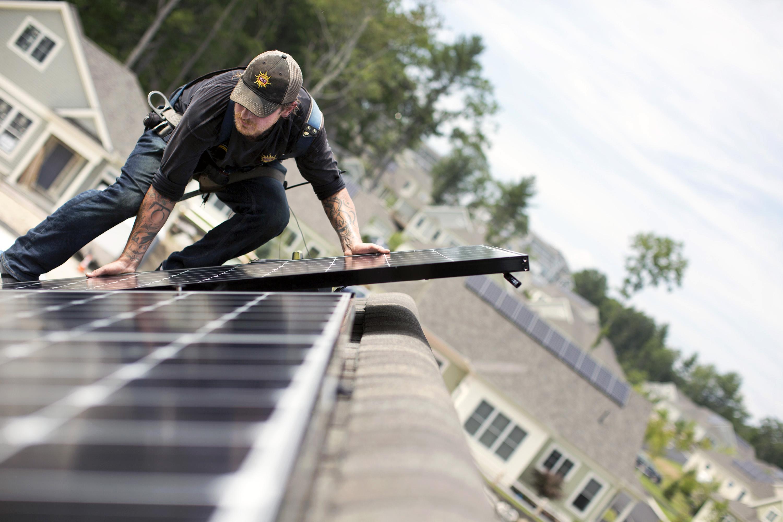 Solar installation at OceanView