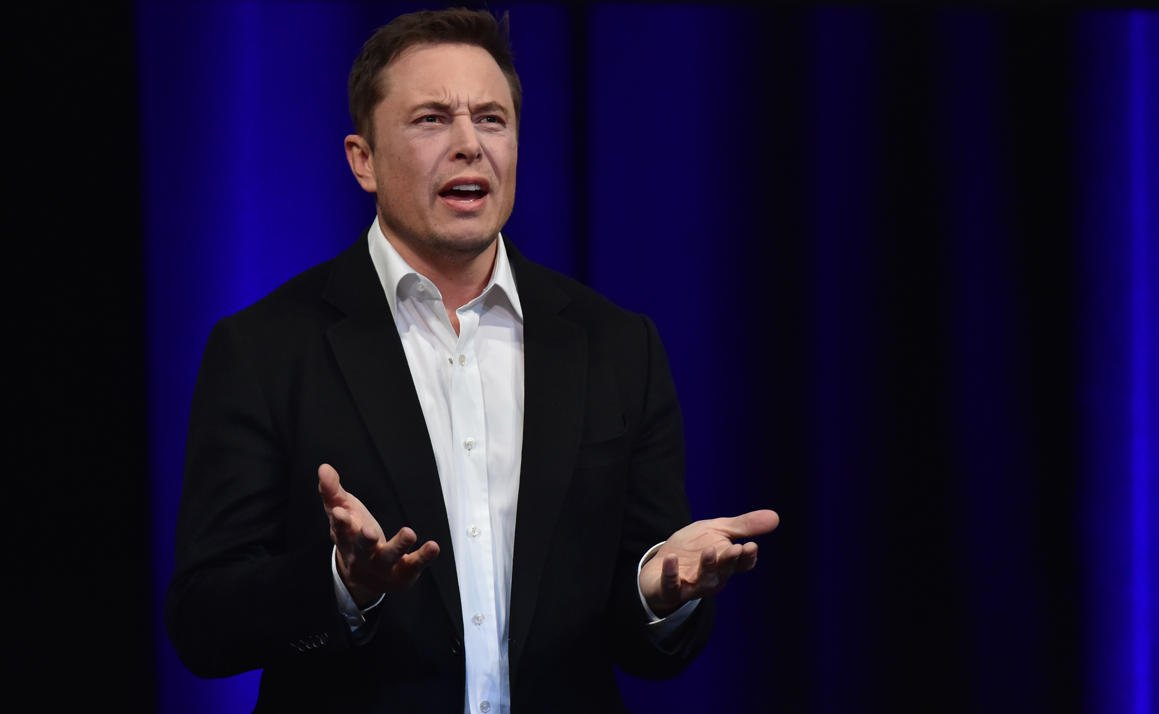 """Apparently this is what some people want,"" Musk said at a press conference Thursday."