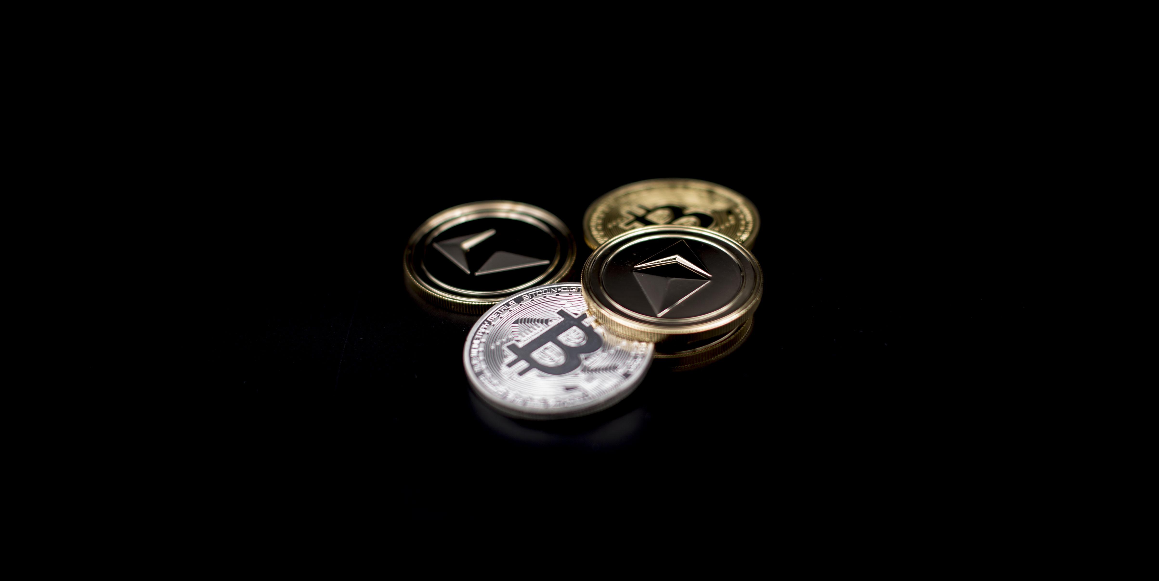 A view of Litecoin (LTC) token and Bitcoin Coin (BTC).