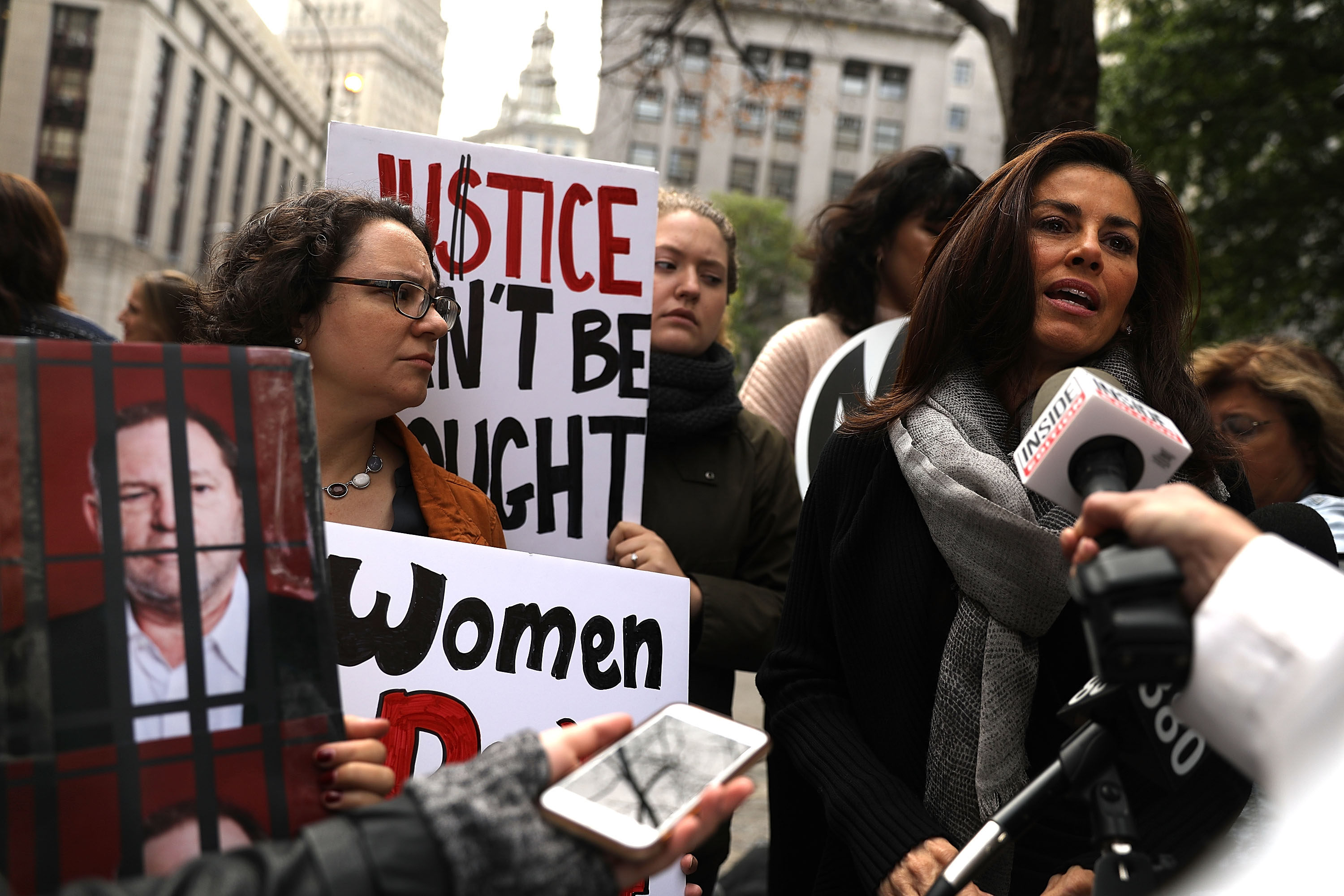 NOW Protests Manhattan DA's Decision Not To Prosecute Harvey Weinstein