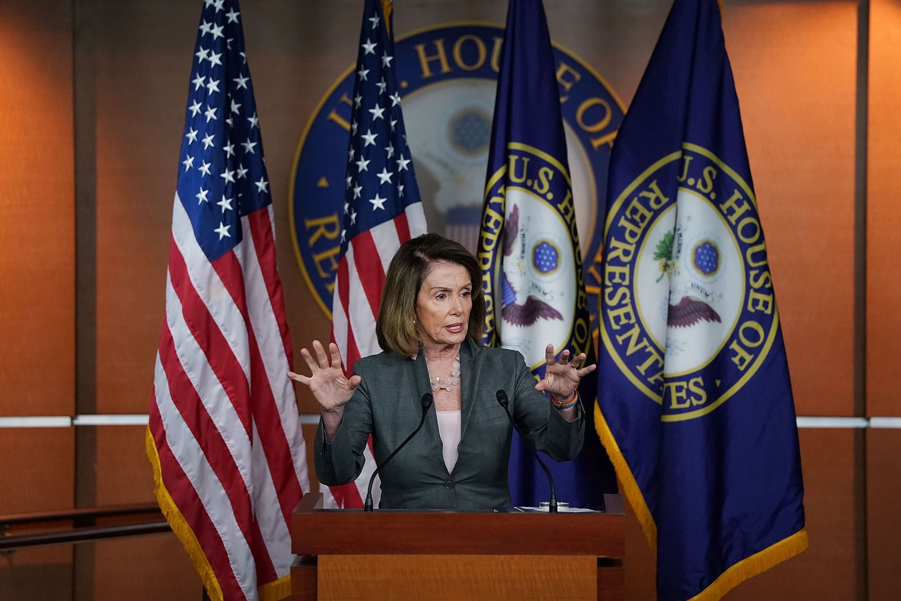 Nancy Pelosi (D-CA) Holds News Conference On Trump Administration's Decision On Iran Nuclear