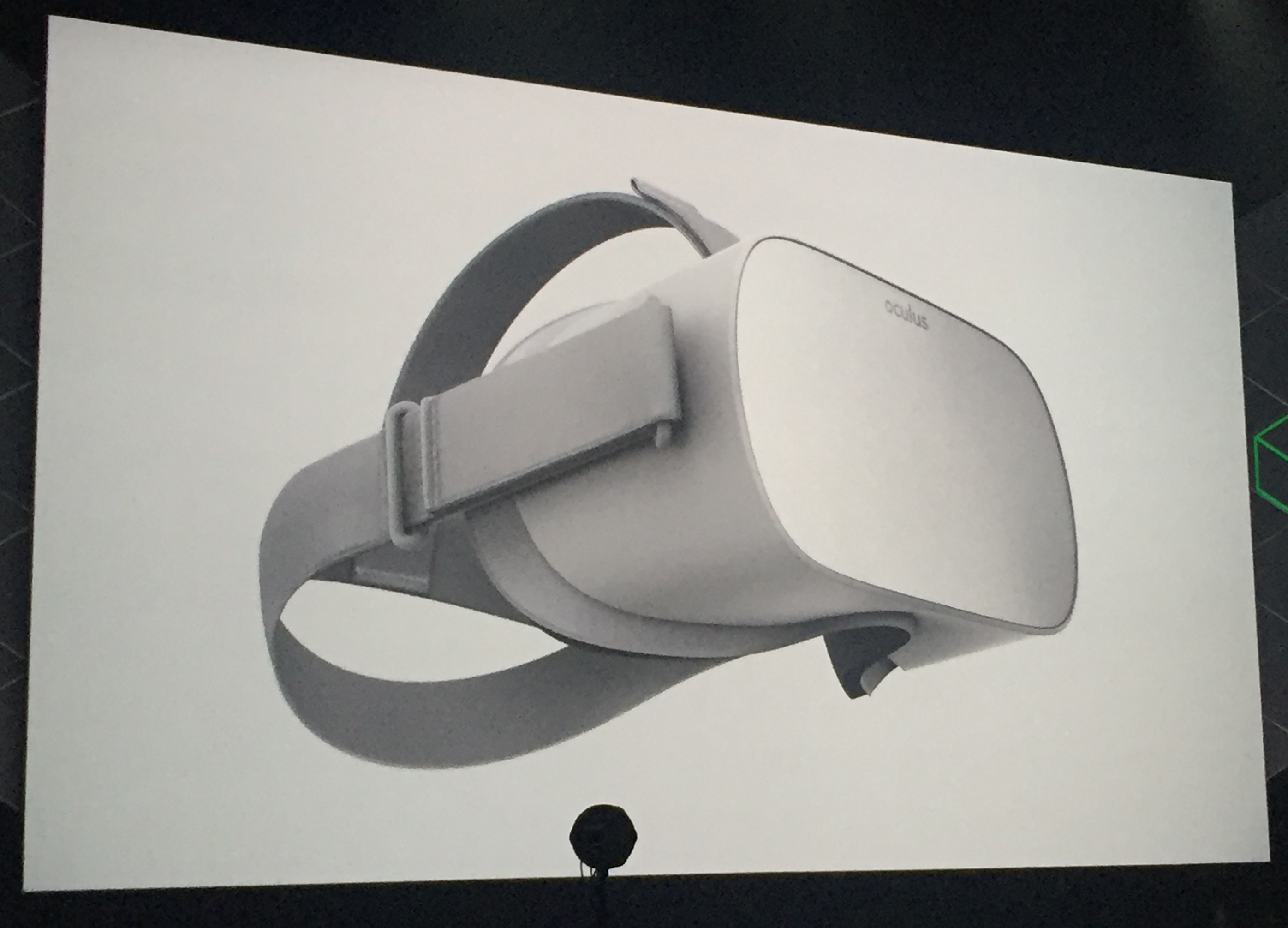 Oculus Go virtual reality headset.