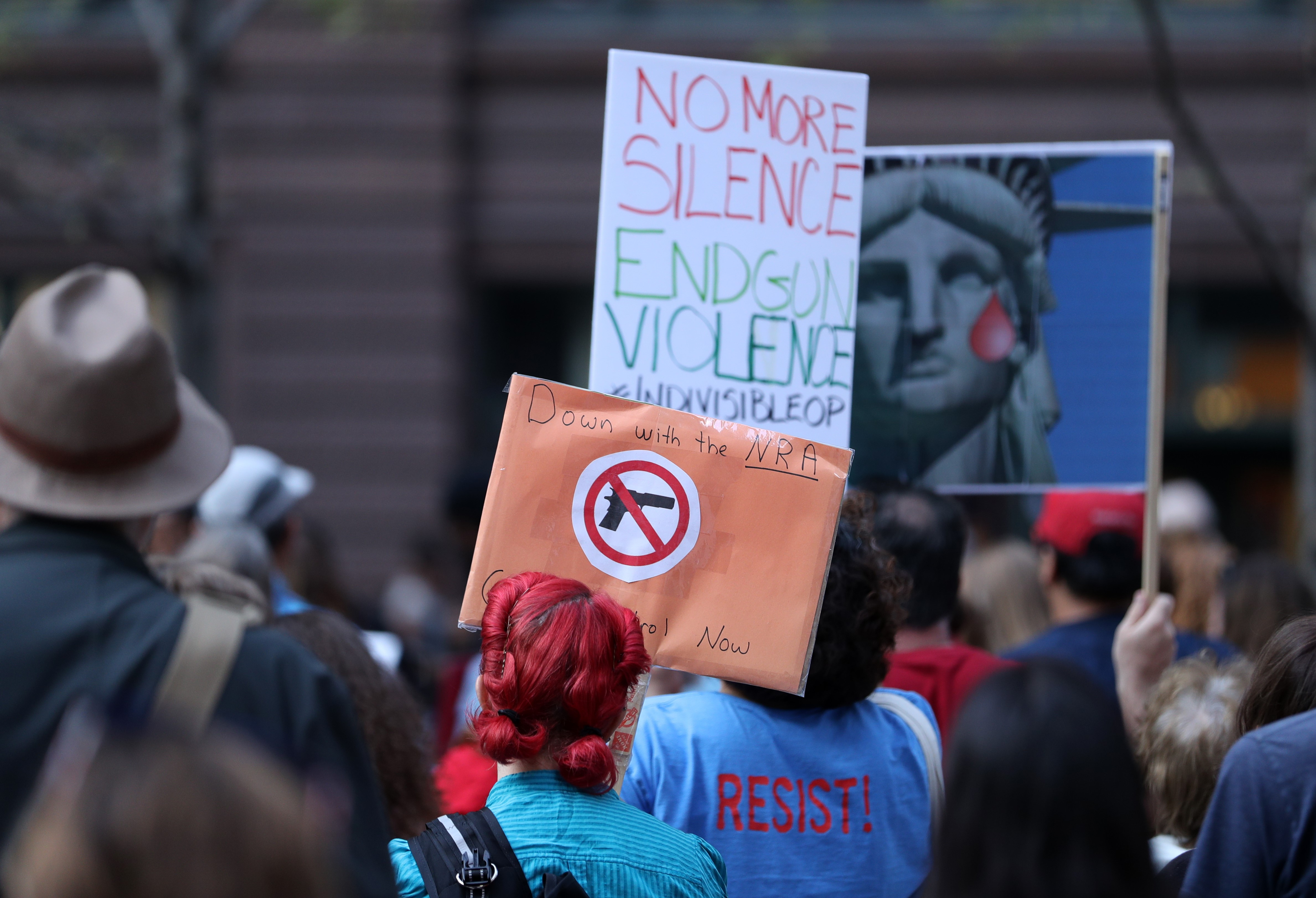 Demonstration for Las Vegas mass shooting victims in Chicago