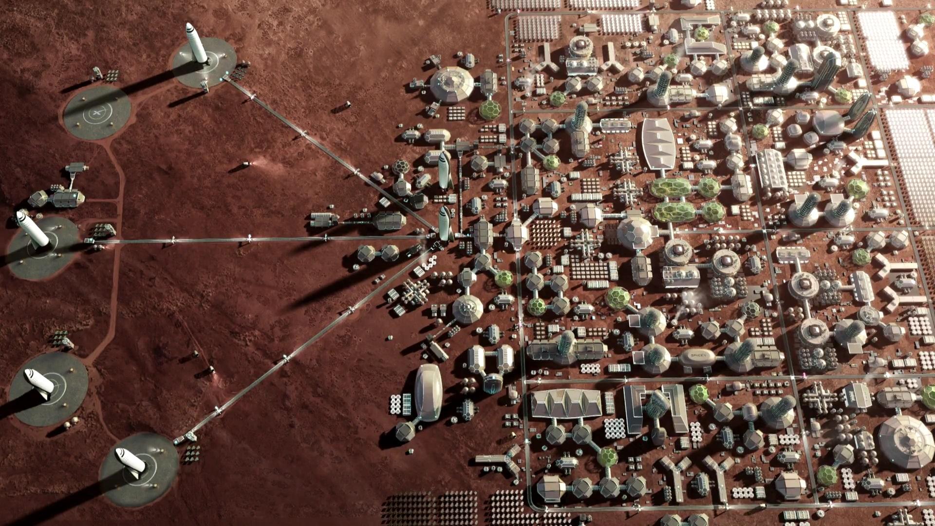 musk mars spacex city