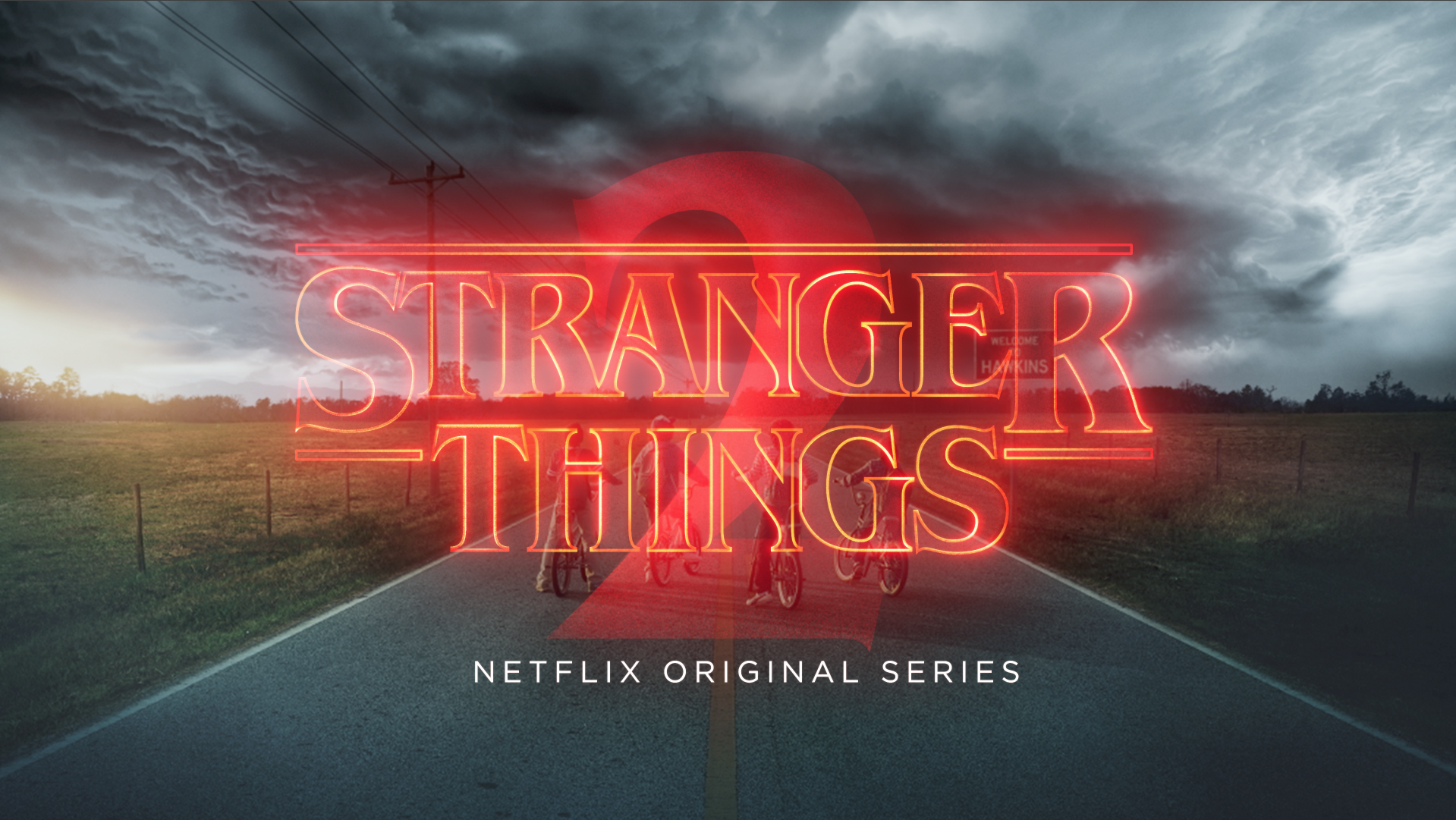 "A title card from Season 2 of Netflix's ""Stranger Things."""