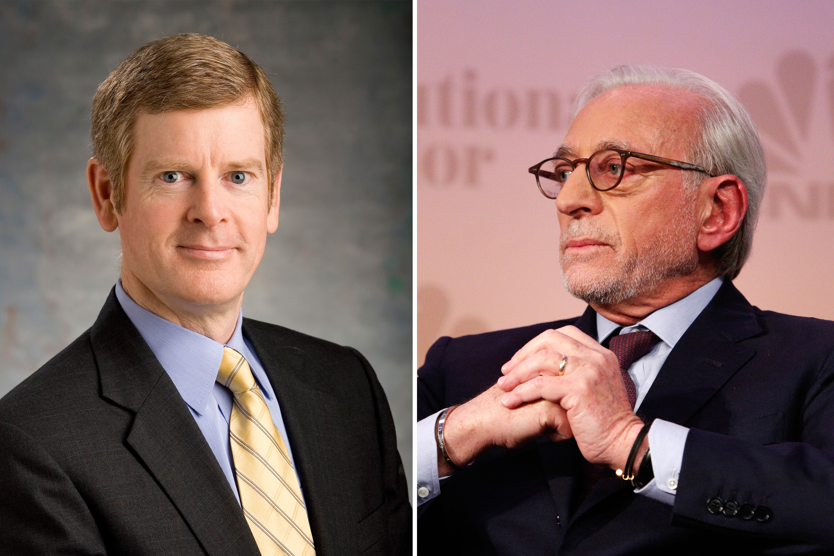 Procter & Gamble CEO David Taylor (left) and activist investor Nelson Peltz.