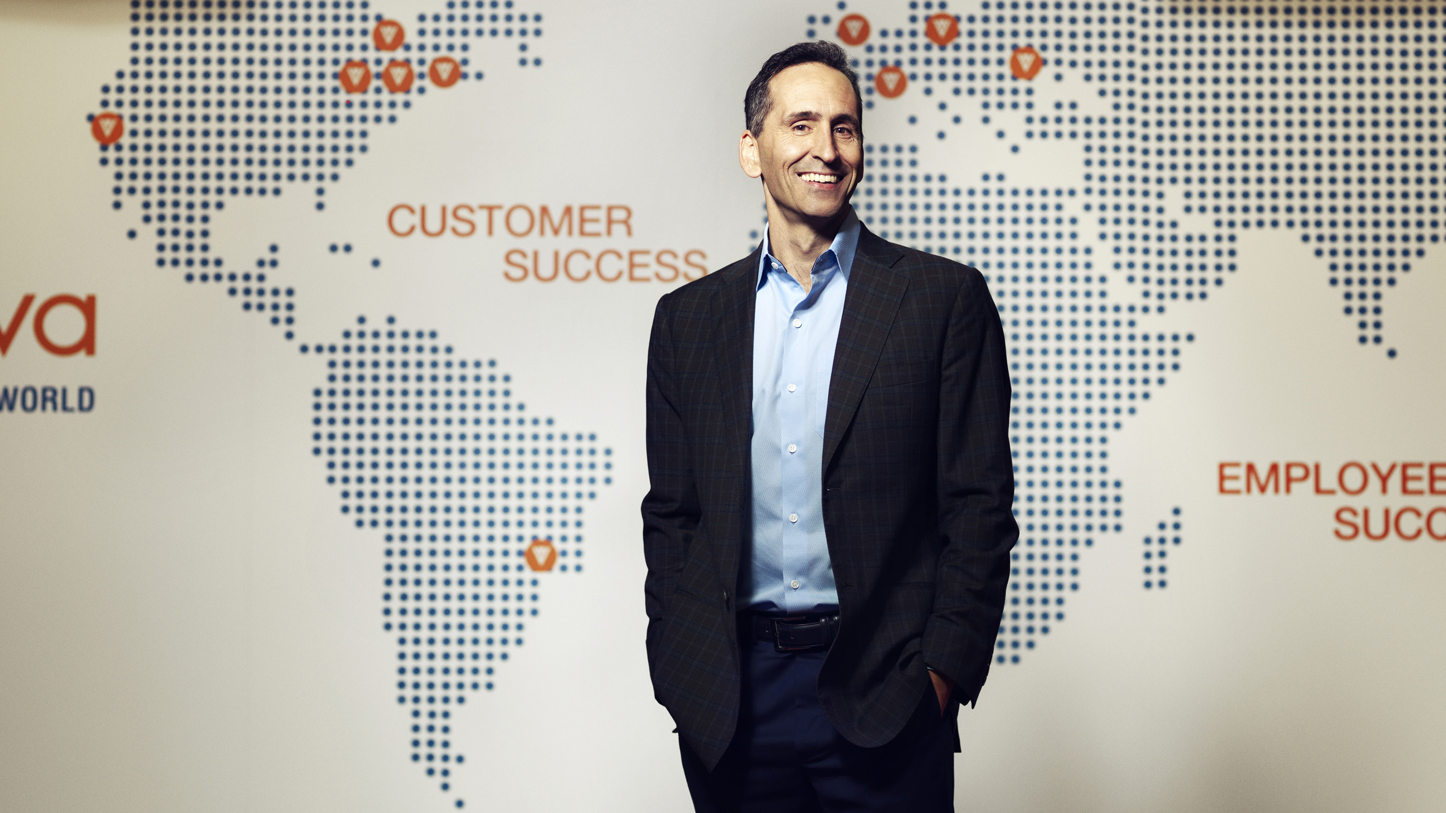 Peter Gassner of Veeva Systems photographed 4/17 for forbes.