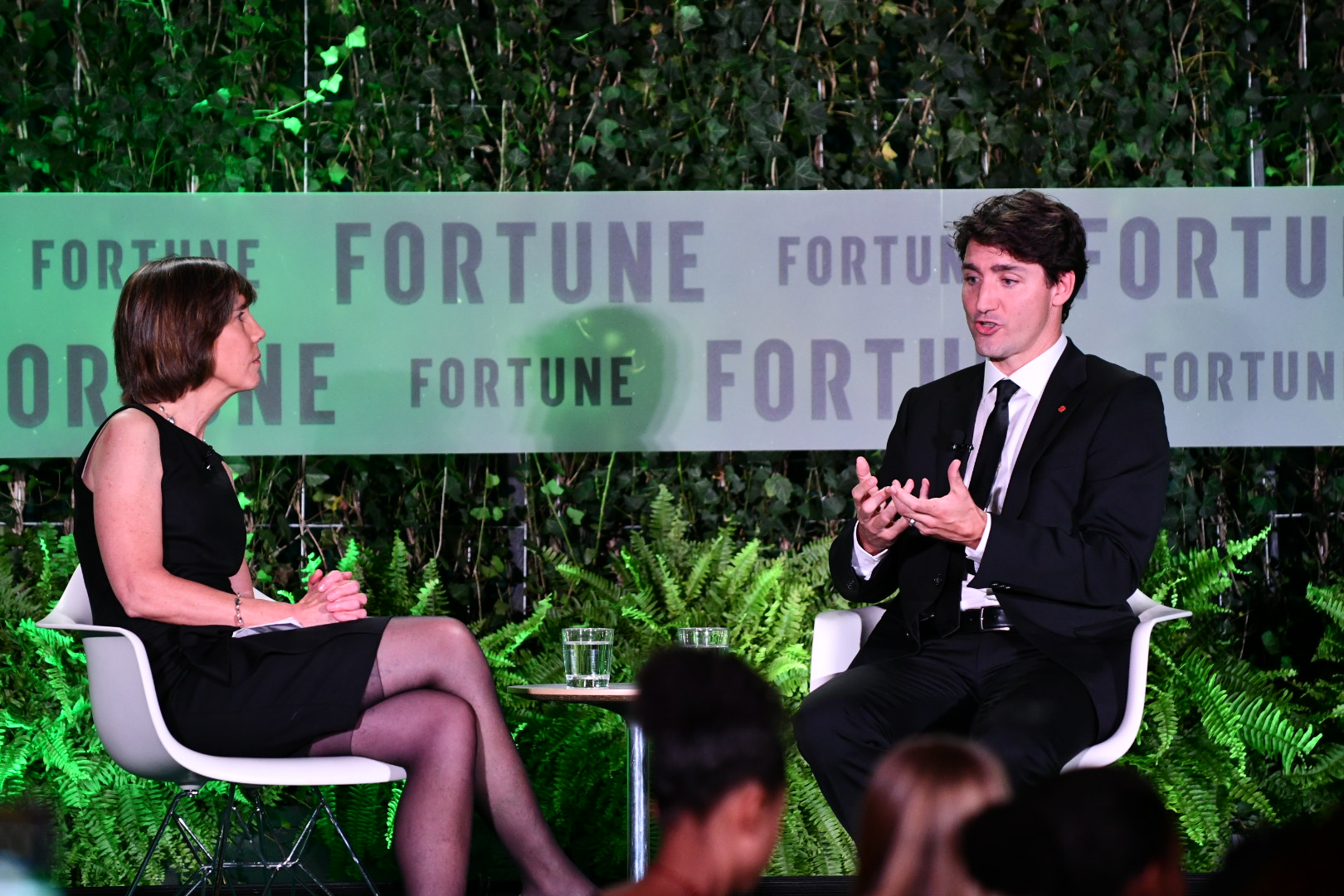 Justin Trudeau speaks at Fortune's 2017 Most Powerful Women conference.