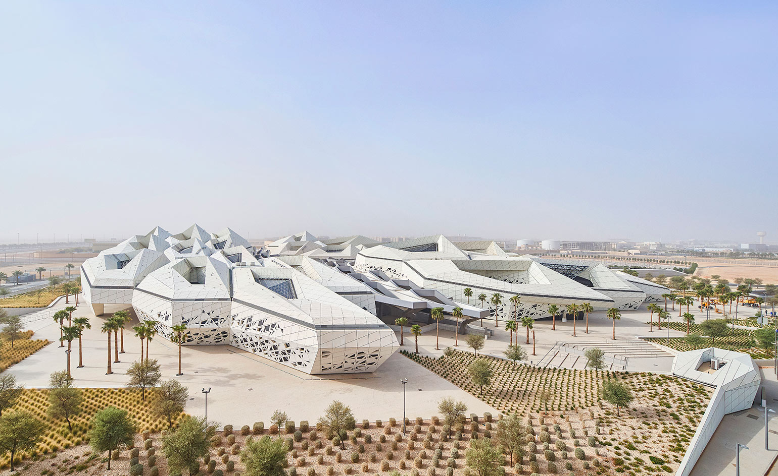 Riyadh's King Abdullah Petroleum Studies and Research Center, designed by Zaha Hadid Architects.