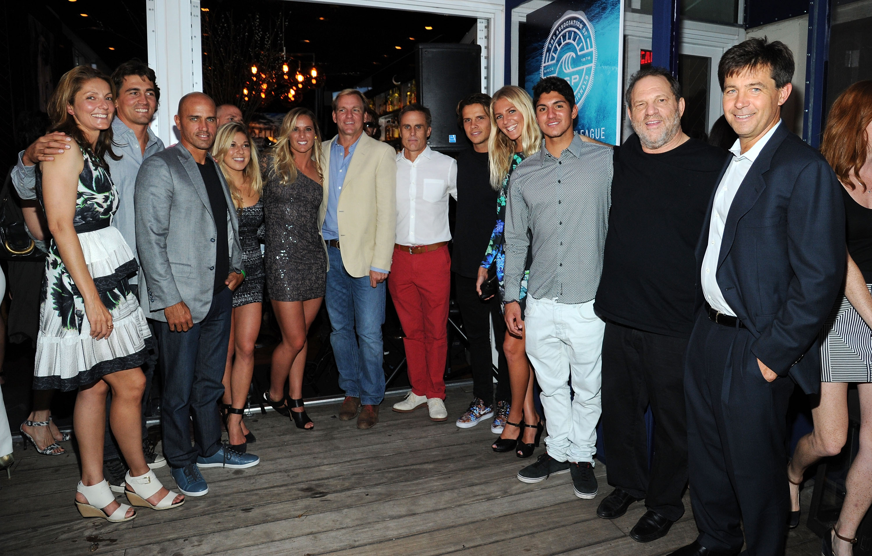 Harvey Weinstein, Dirk Ziff and others at the World Surf League Cocktail Party.
