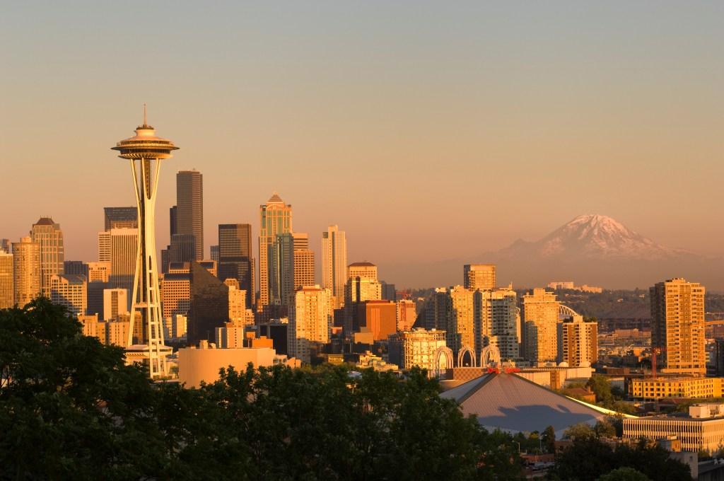 USA, Washington State, Seattle, Kerry Park, Seattle Skyline