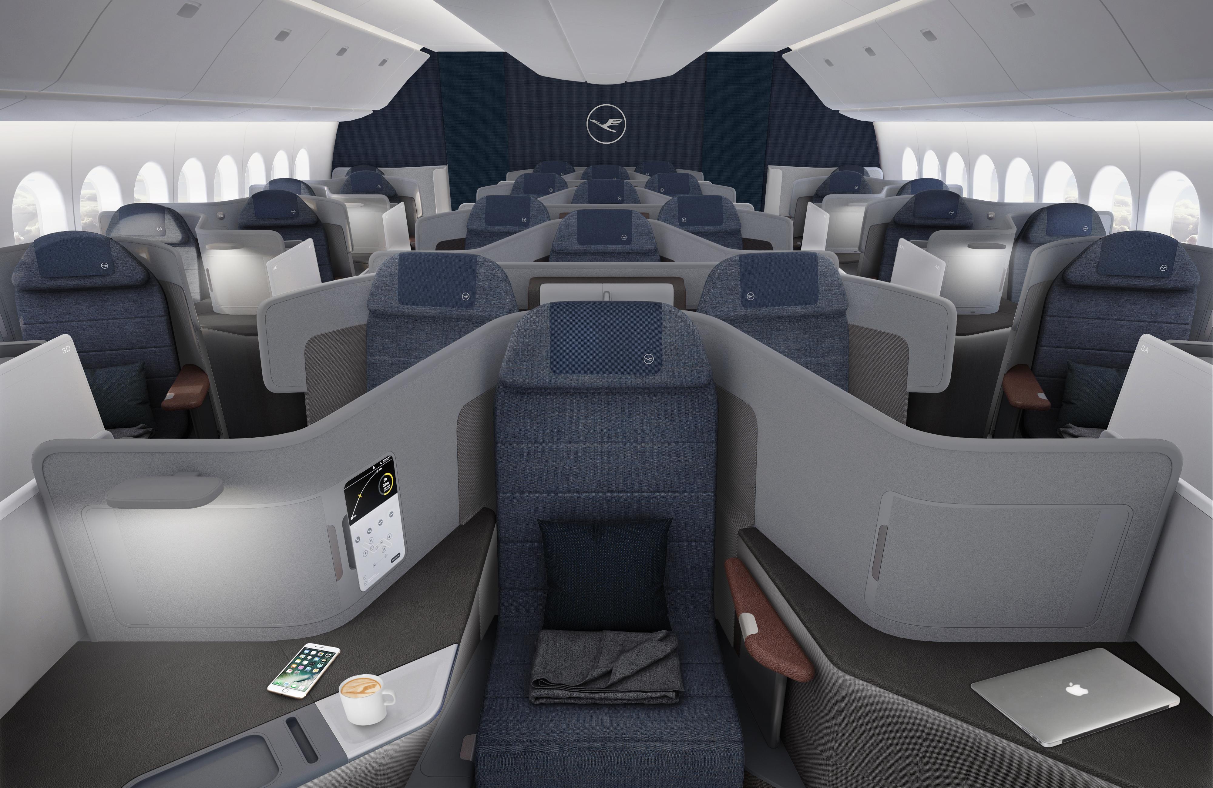 New Business Class on Lufthansa.