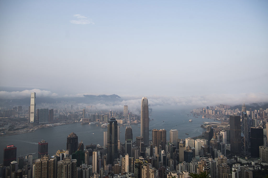 Hong Kong Skyline As China Traders Flee to City In Record Stock-Buying Streak