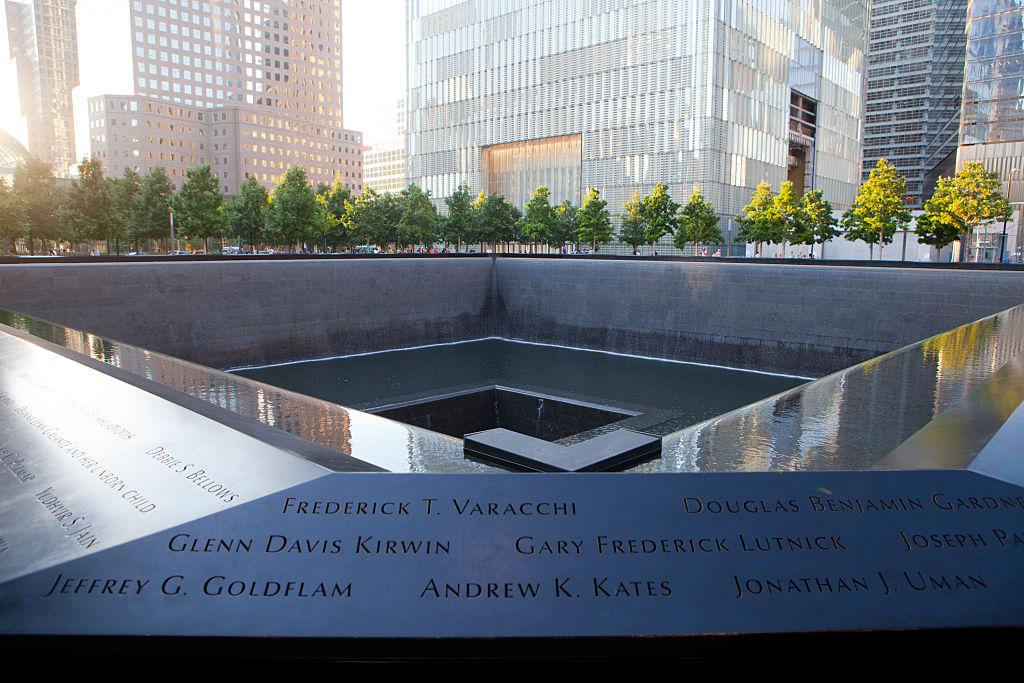 The 9/11 Memorial North Pool in lower Manhattan