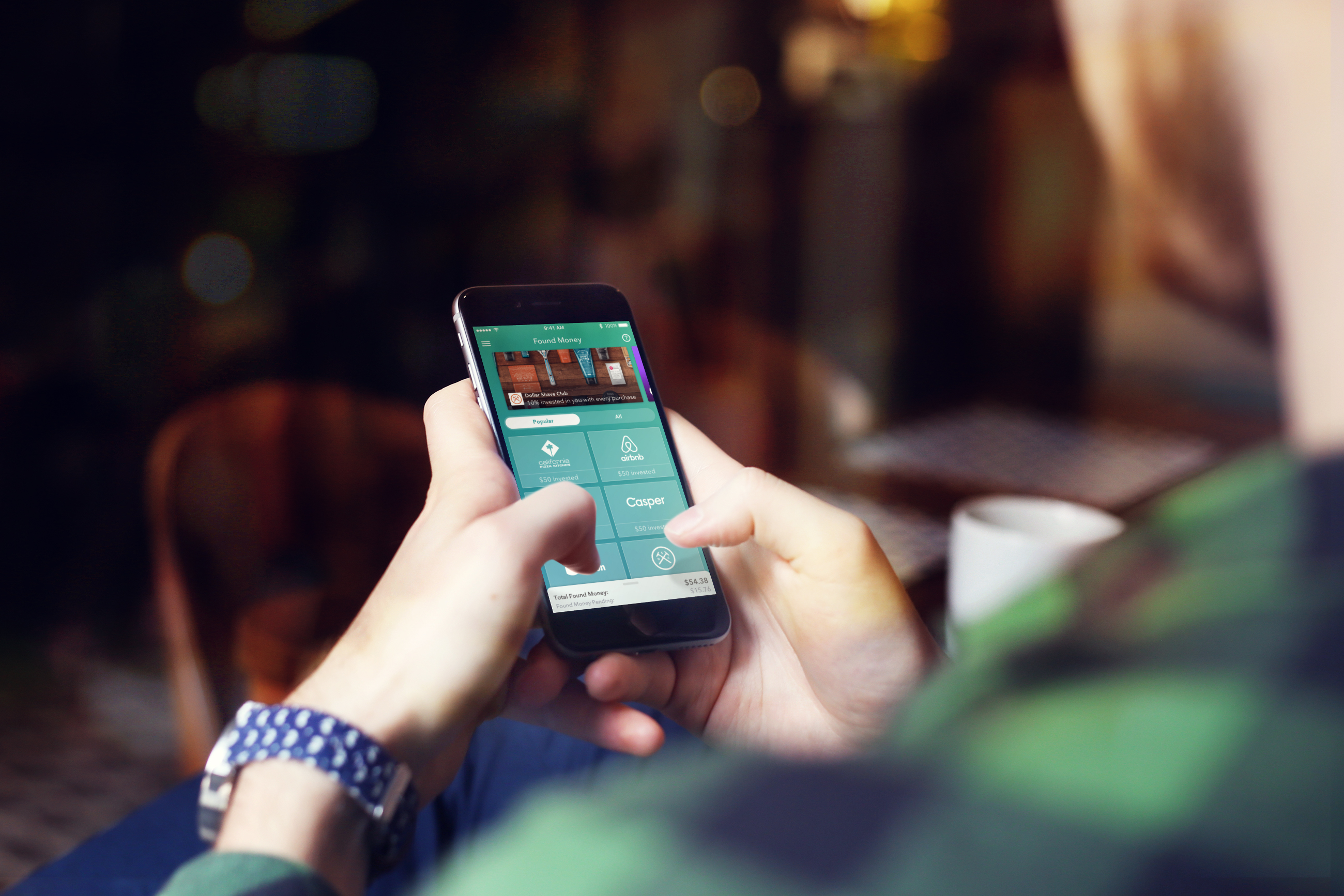 The Acorns investing app