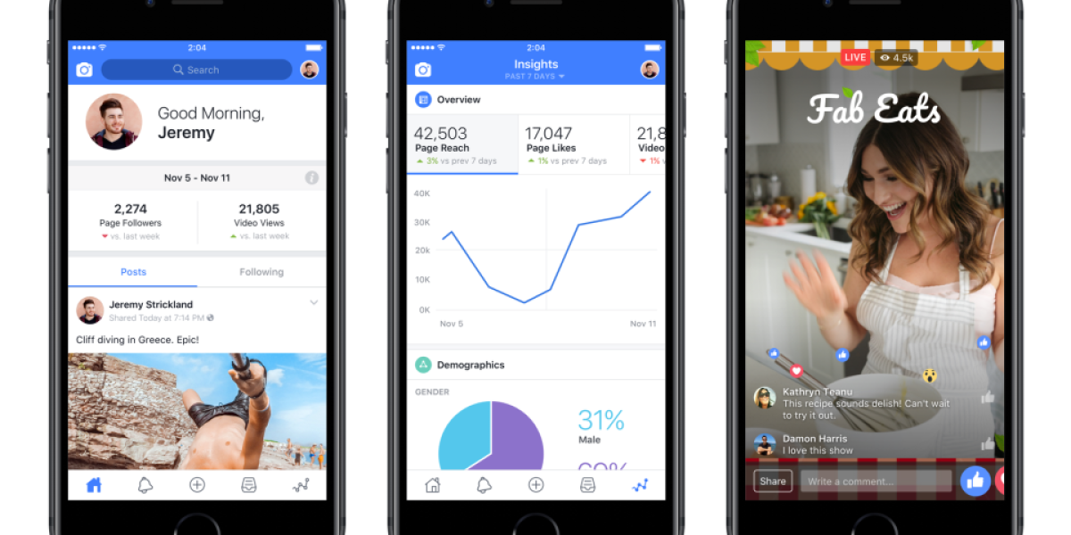 Facebook Debuts App for Video Creators to Take on YouTube   Fortune