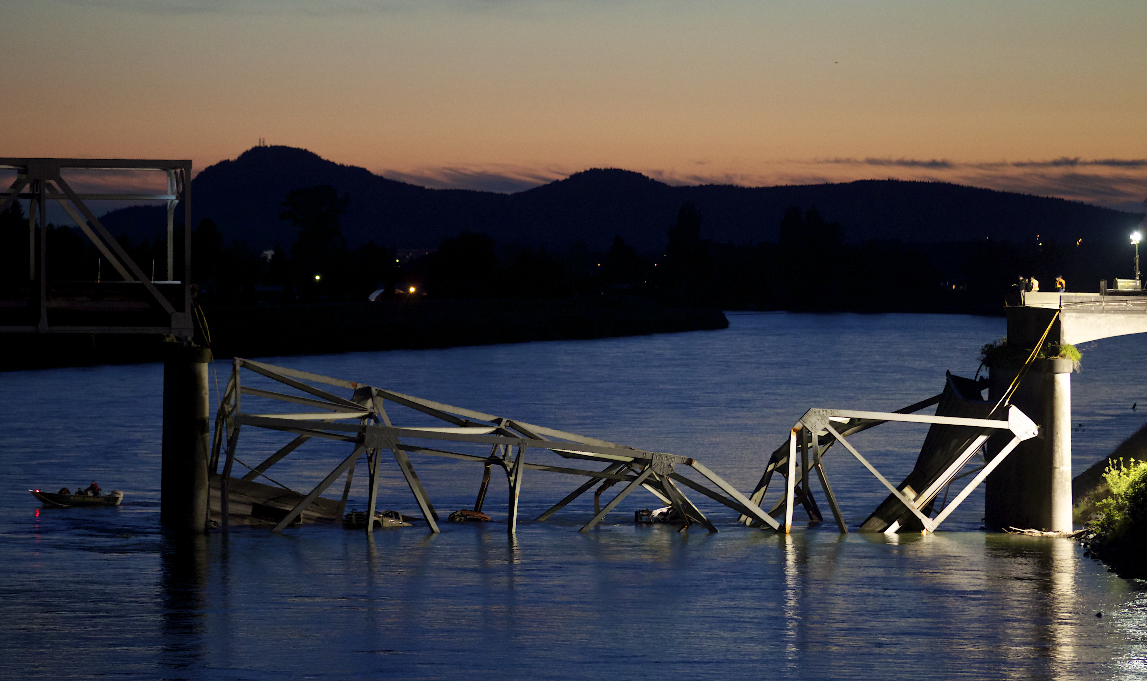 Interstate 5 bridge collapses over river in Washington State