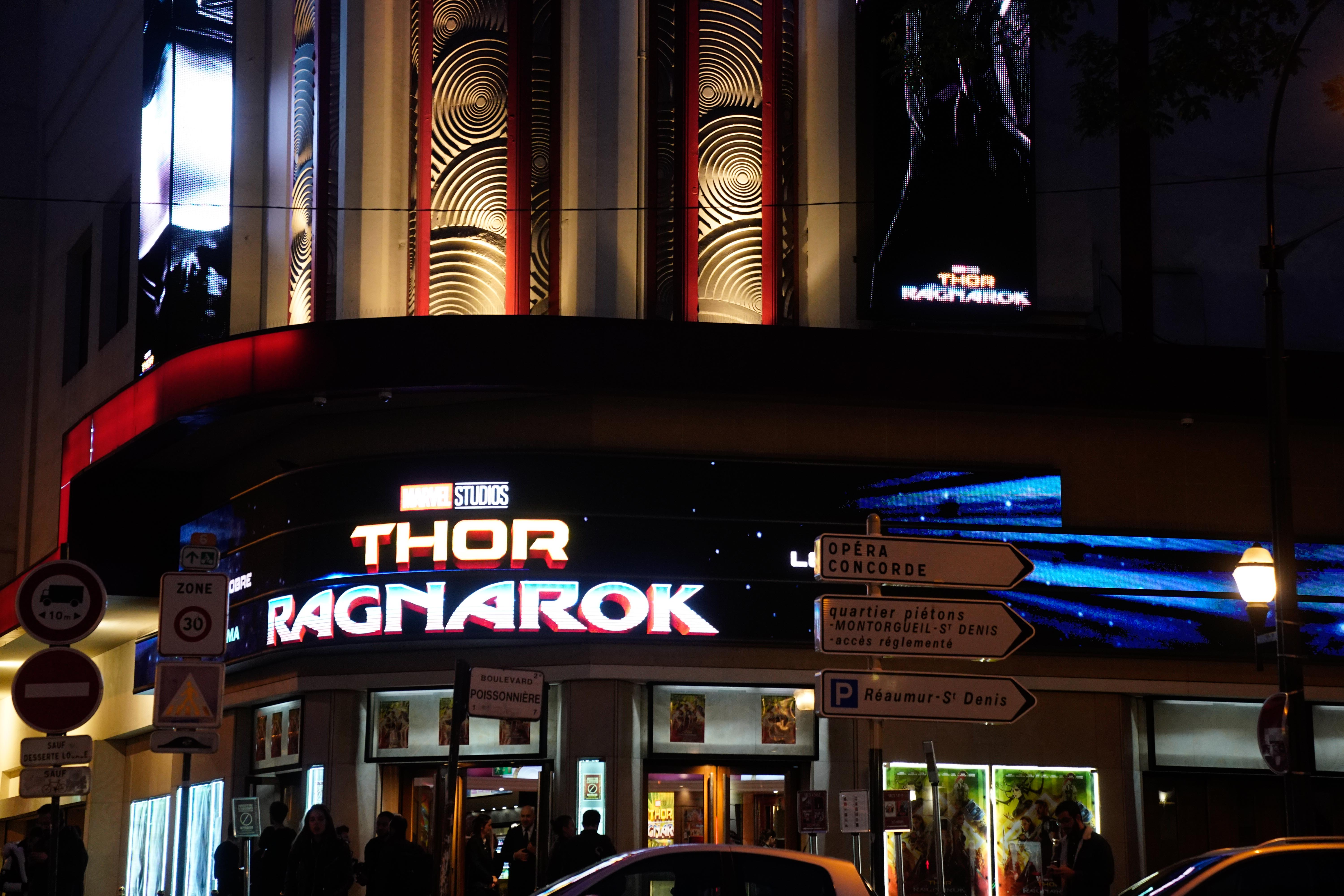 Thor Ragnarok : Paris Premiere At Le Grand Rex