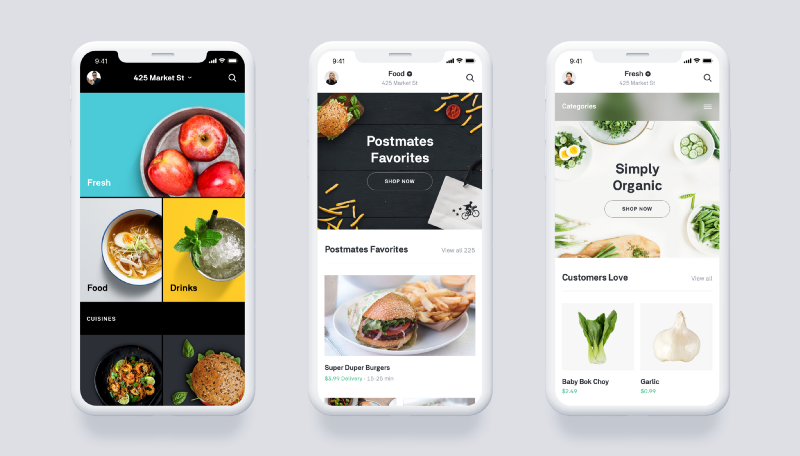 Postmates unveiled its Postmates Fresh service on Wednesday, Nov. 8, 2017. The service boasts a faster delivery time — 30 minutes — than its competitors, AmazonFresh and Instacart.