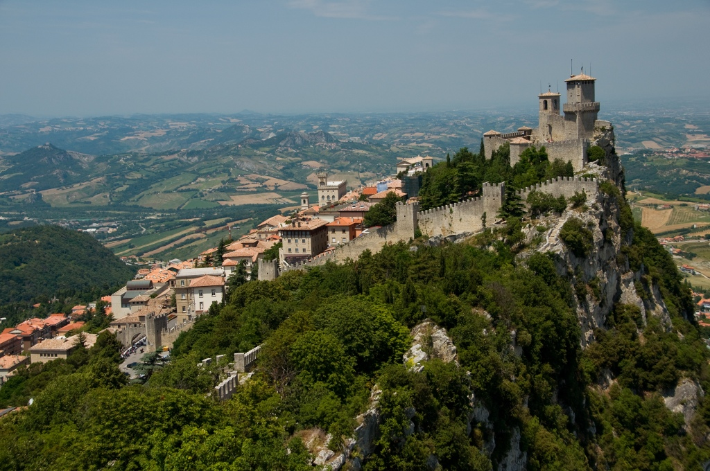 Old walls and town of San Marino