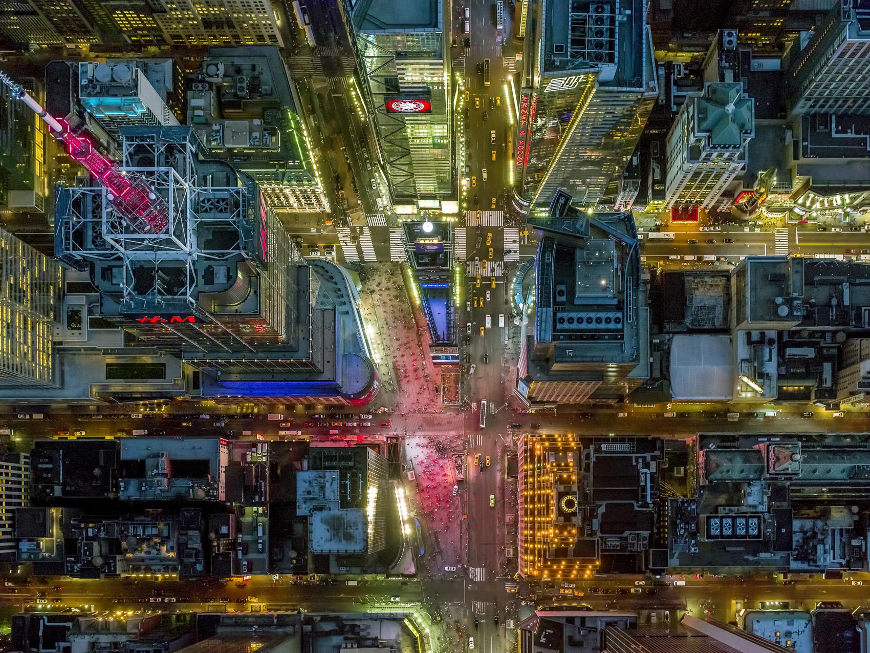 Aerial photographs Los Angeles New York City