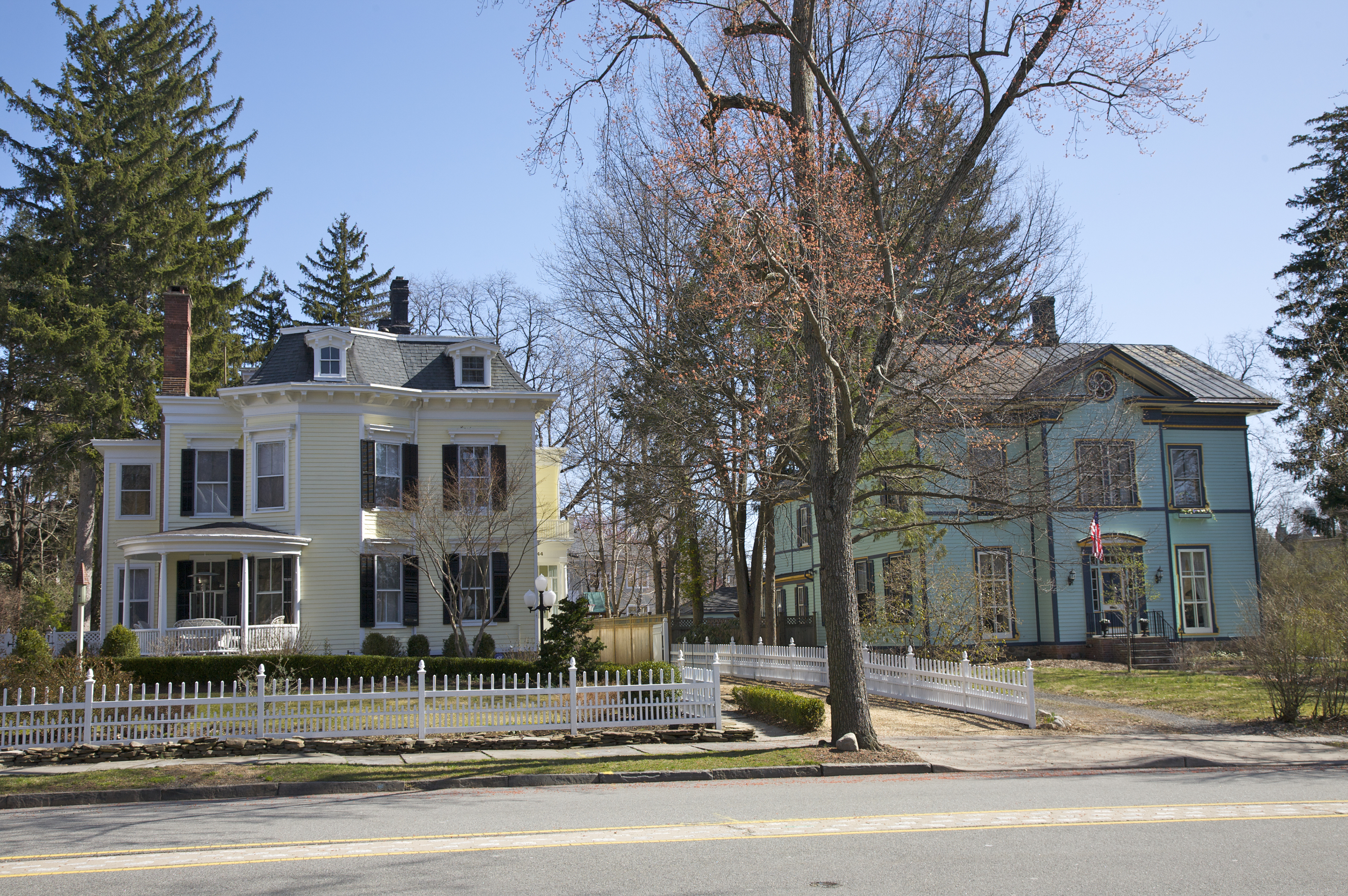 Historic homes, Morristown, Morris County, New Jersey, USA, March 2010