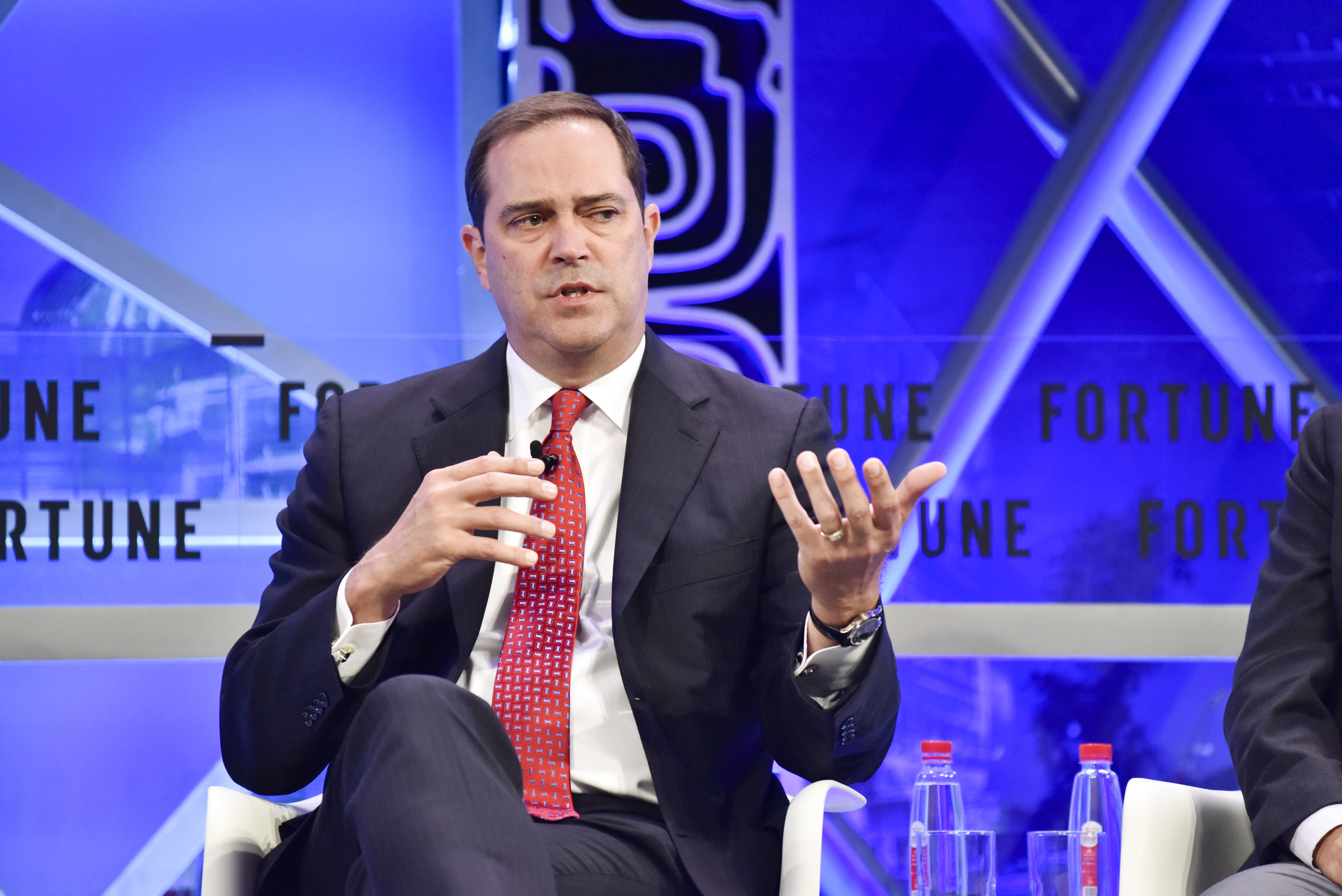 Chuck Robbins, CEO of Cisco Systems, appears at the Fortune Global Forum 2017 in Guangzhou, China.