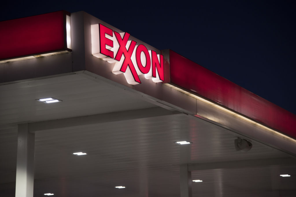 An Exxon Mobil Corp. Gas Station Ahead Of Earning
