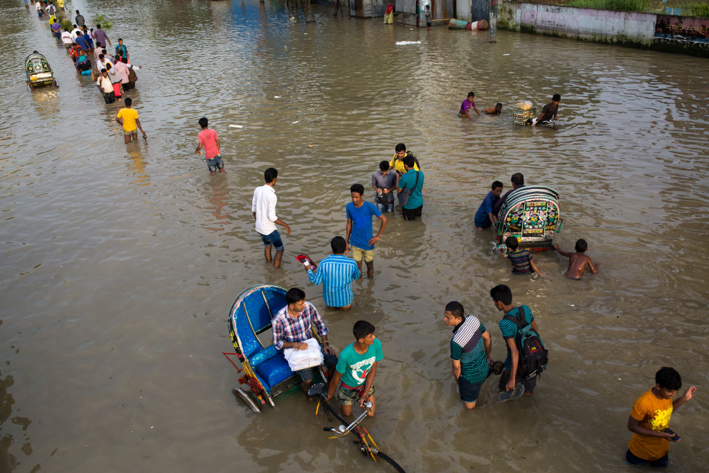 Part Of Chittagong City Goes 4-5 Feet Under Water In Bangladesh