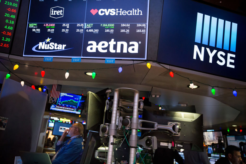 Trading On The Floor Of The NYSE As U.S. Tax Bill Has Traders Cheering