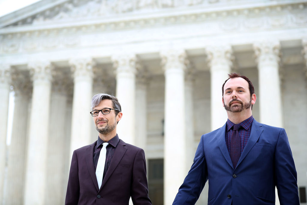Protestors Hold Rallies Outside Supreme Court Over Cakeshop Civil Rights Case