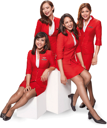 Air Asia flight attendants feature prominently in the airline's marketing.