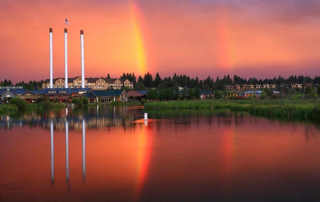 The Old Mill District in Bend, Oregon.