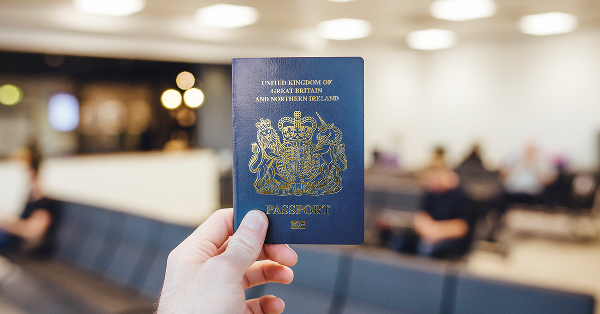 The blue British passport, which will debut in 2019.