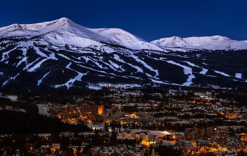 Ski slopes, Breckenridge, Colorado, USA