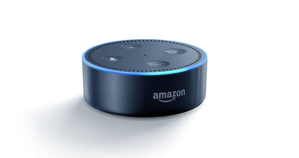 Amazon's A.I.-powered Echo Dot.