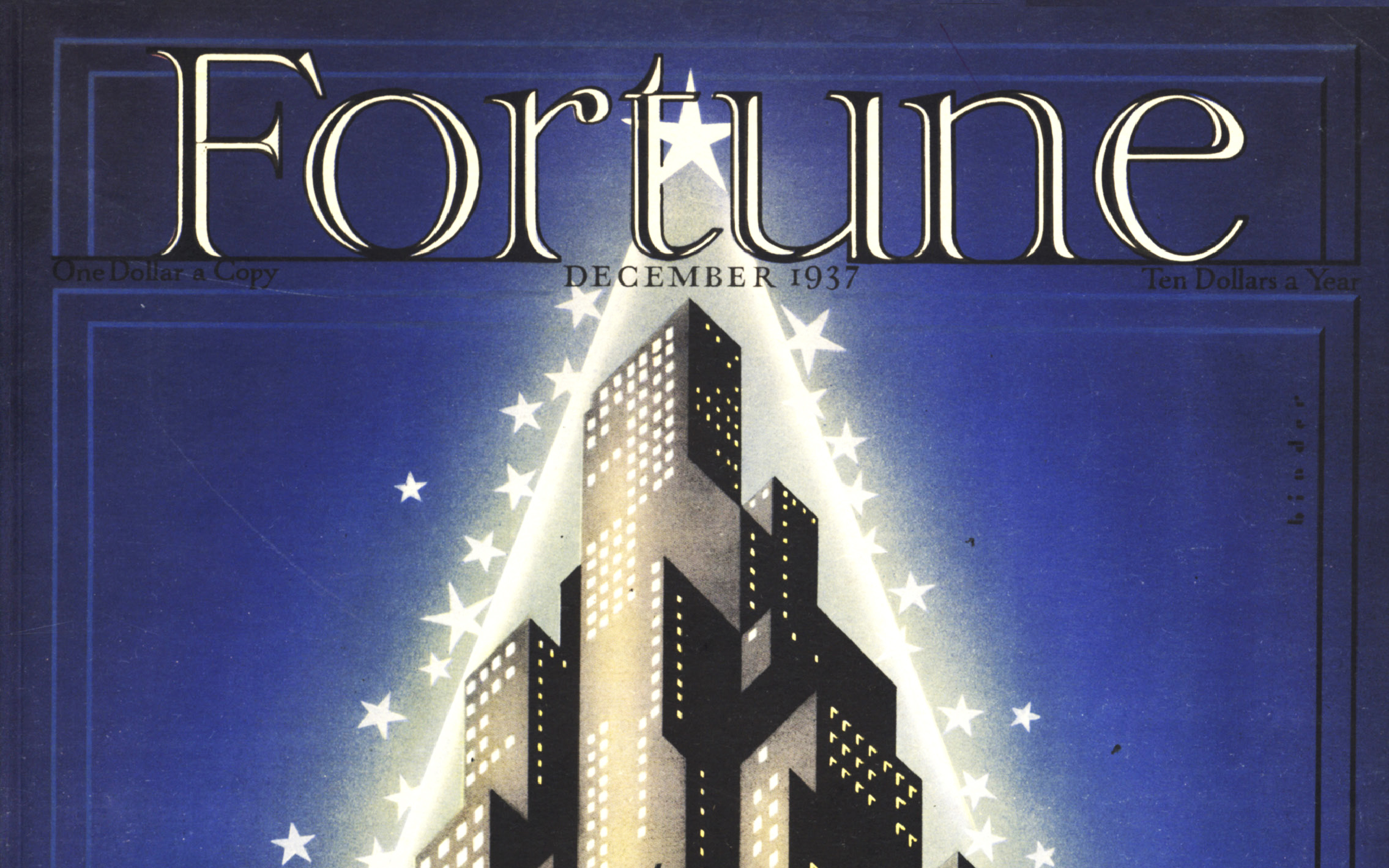 A portion of the cover of the Dec. 1937 issue of Fortune magazine.