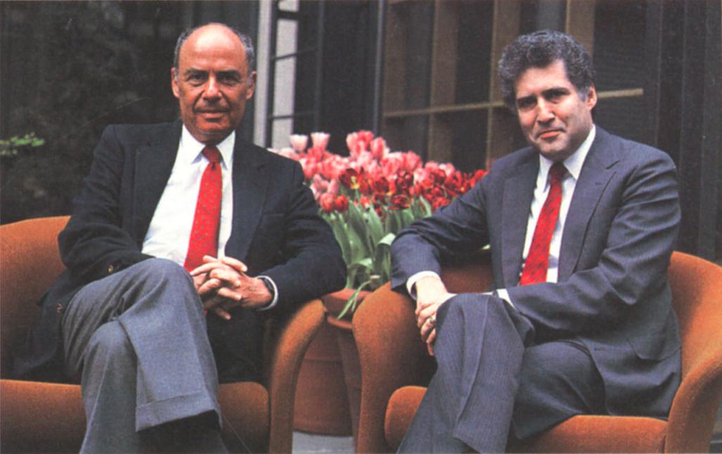 Marshall Loeb and William Rukeyser of Fortune in 1986.
