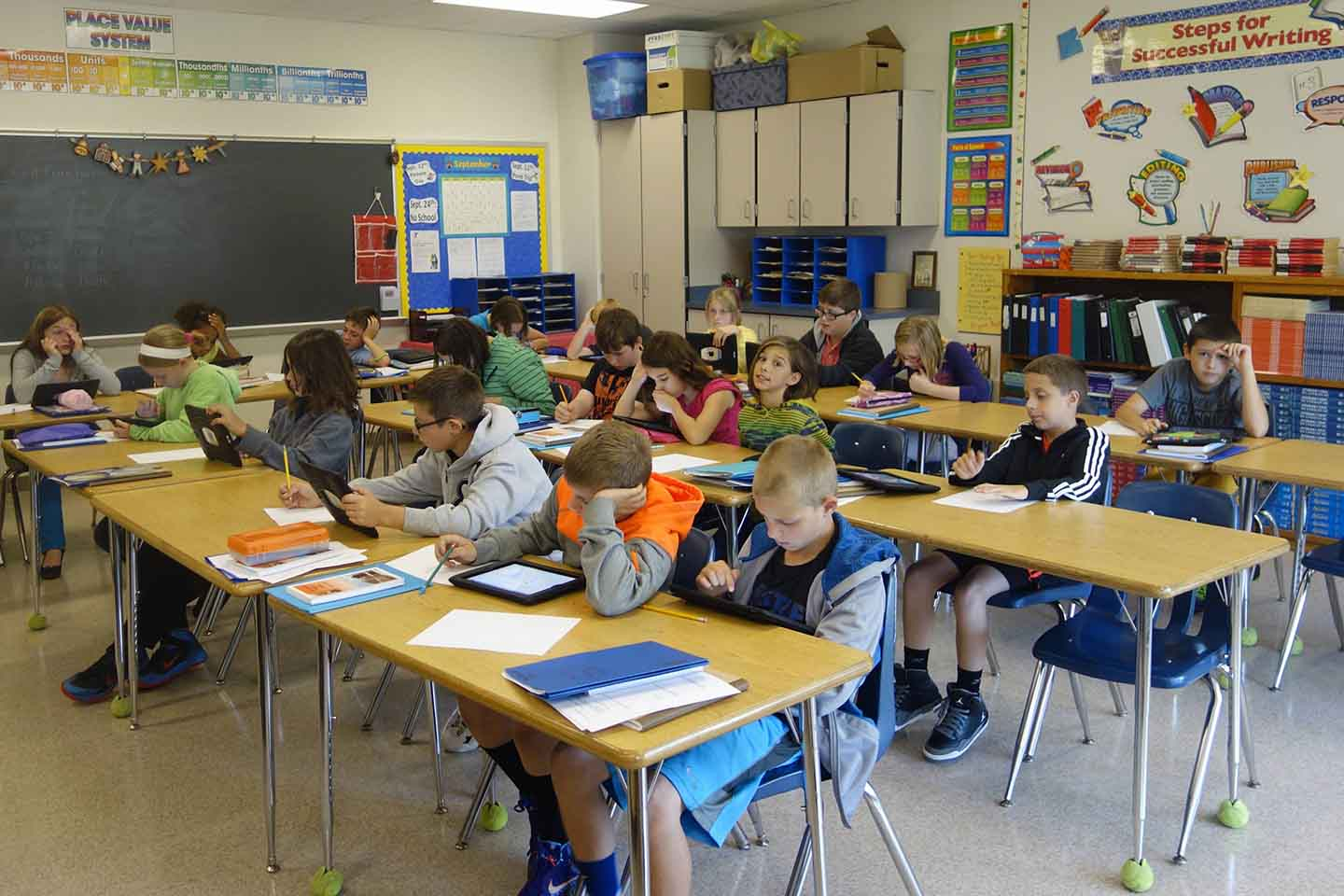 Middle School Classroom, Wellsville, New York