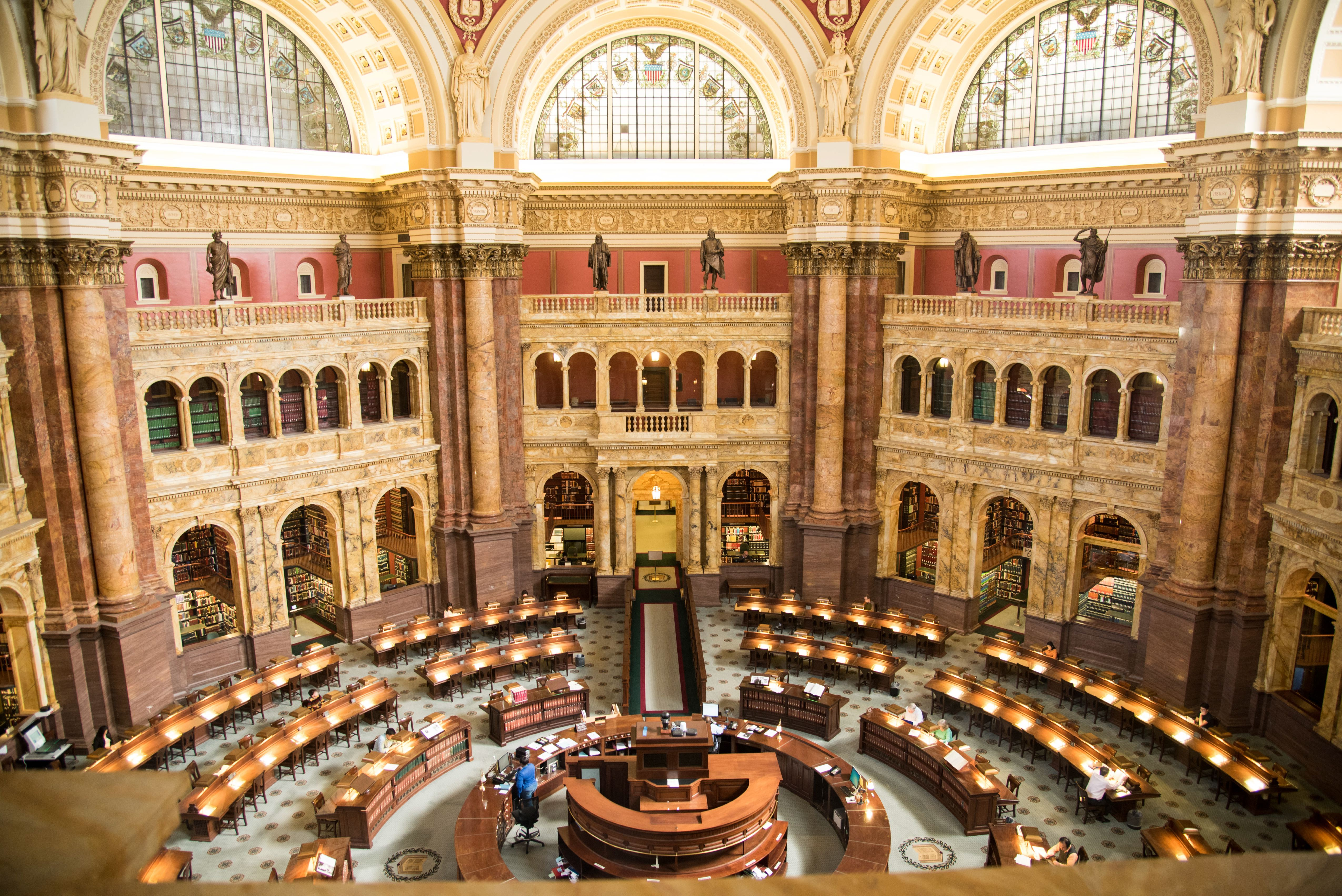 Main reading room of the Library of Congress, Washington, D.C.