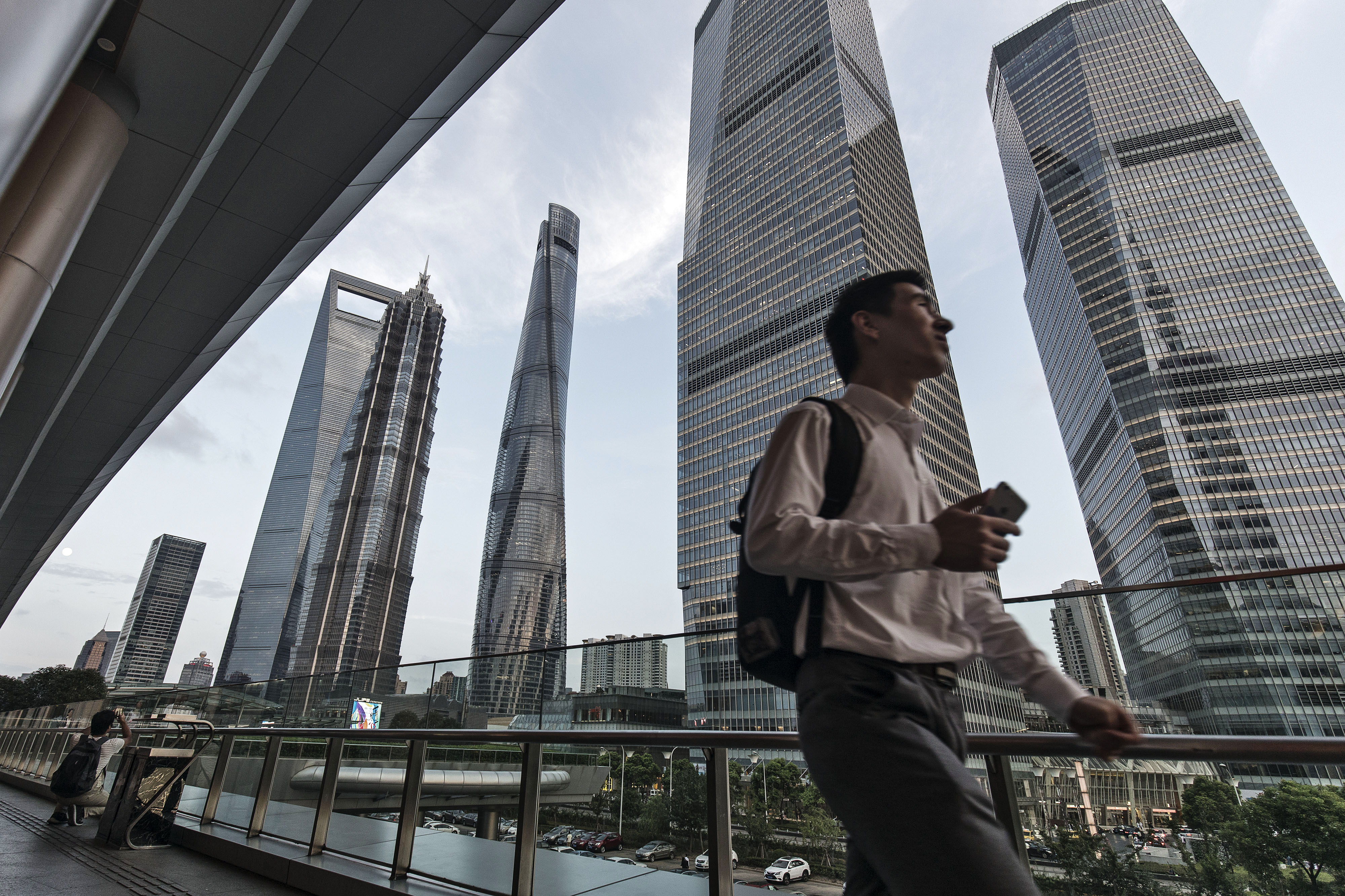 General Views of Pudong as PBOC Cash Withdrawals Seen Denting Sentiment