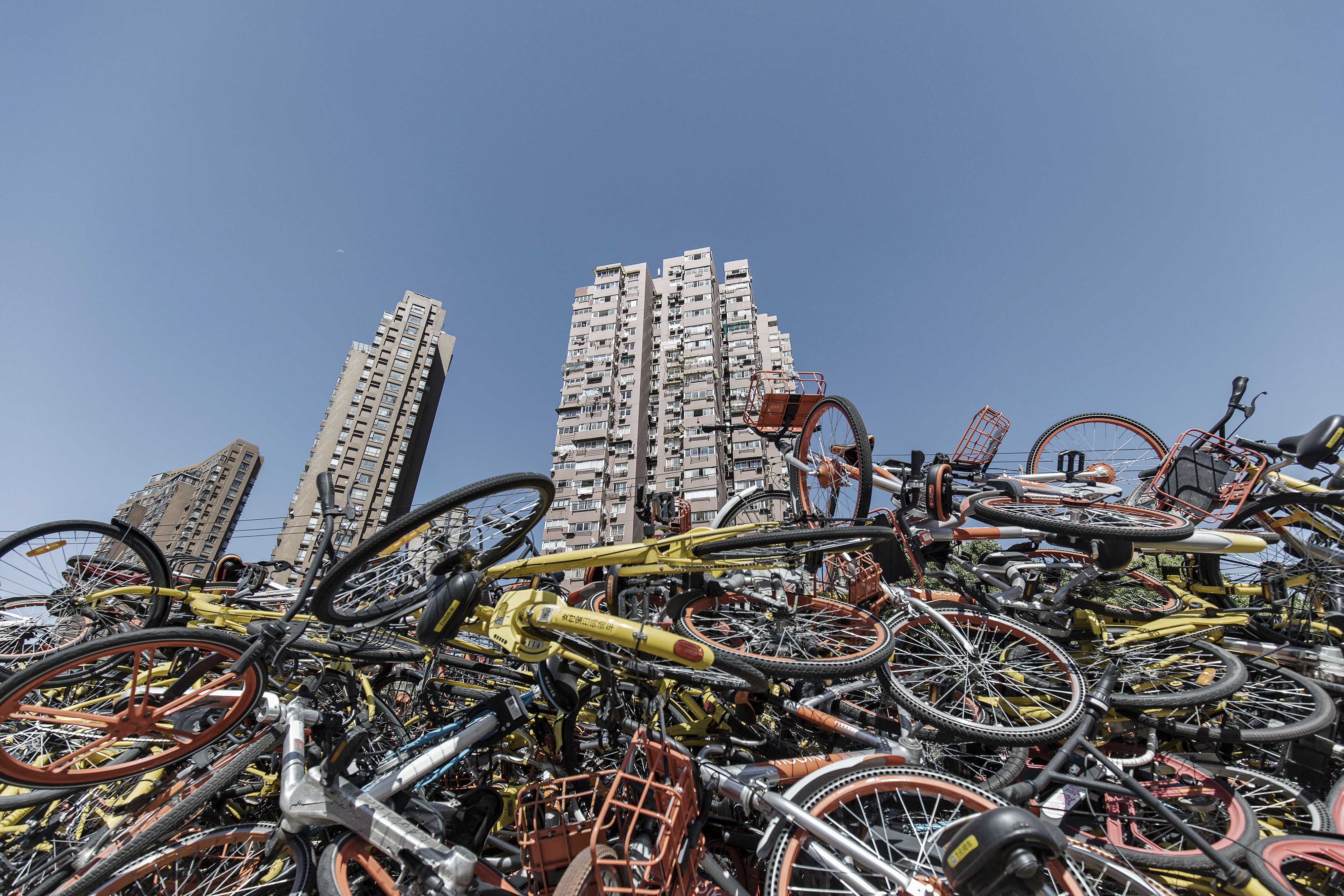 Ride-Sharing Bicycles on the Streets of Shanghai