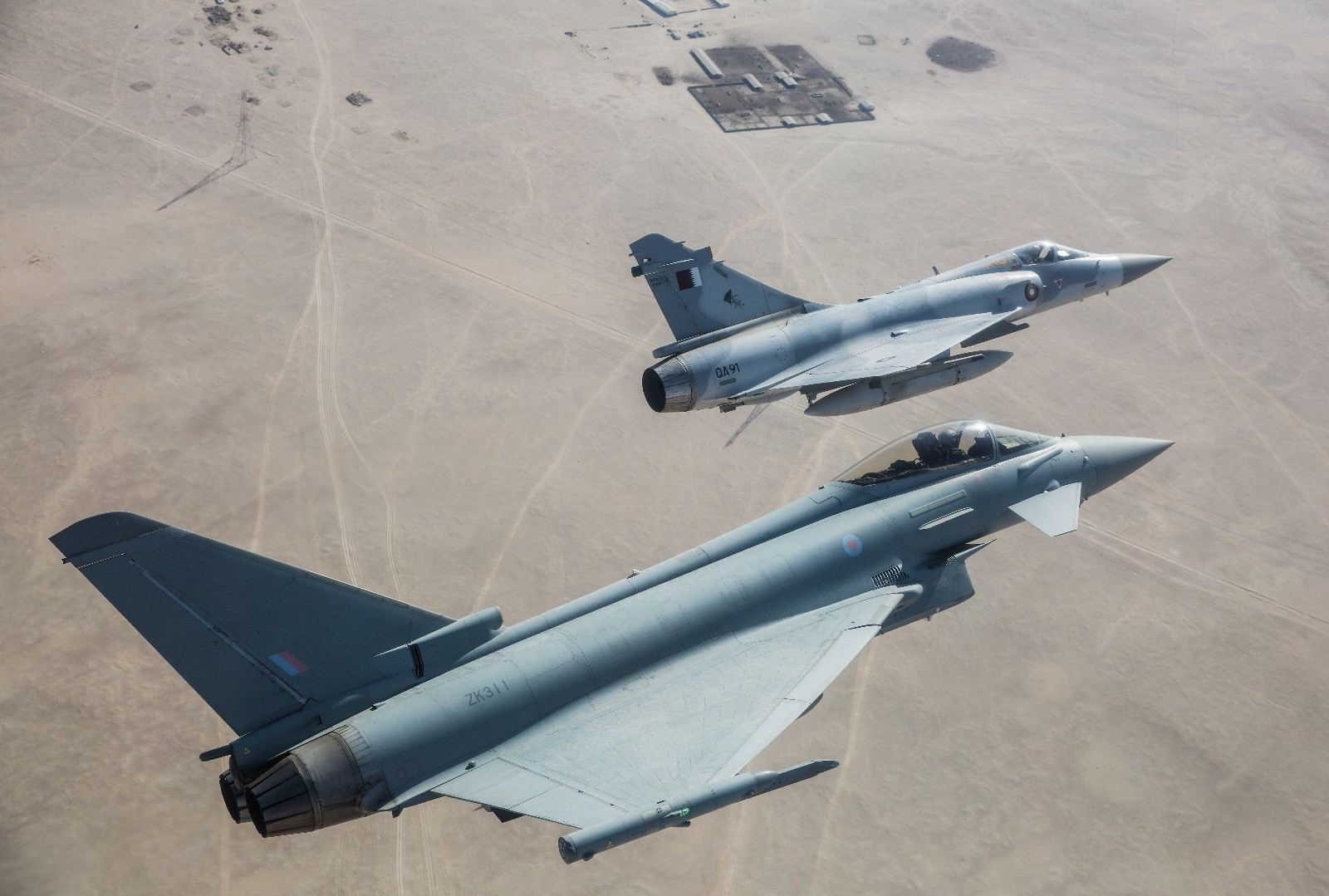 Joint UK-Qatar air forces exercise in Doha