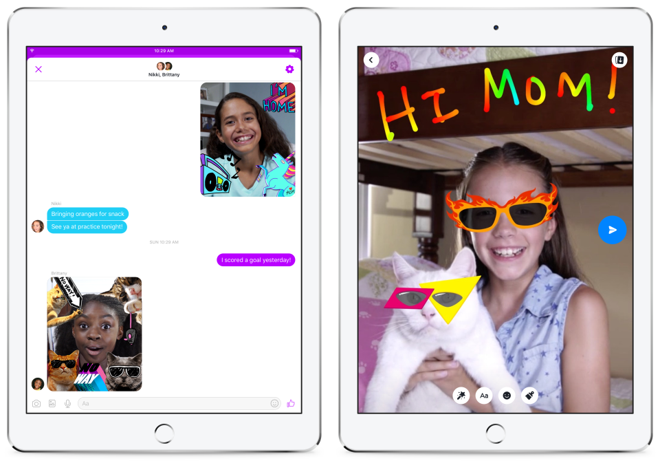 "Facebook's new ""Messenger Kids"" app."