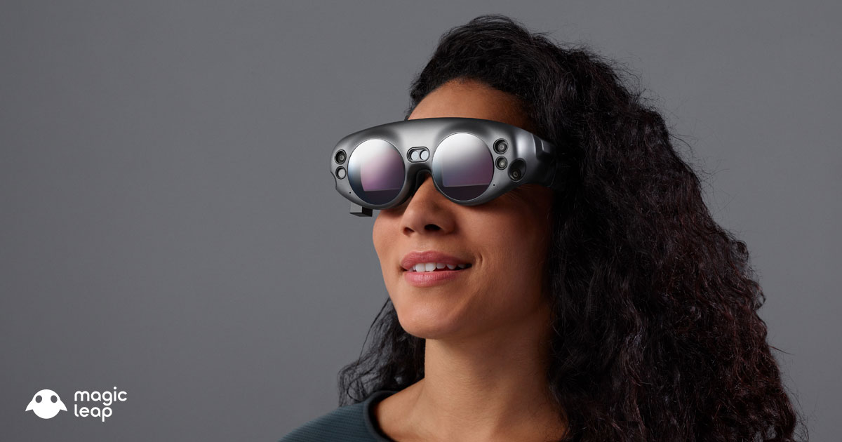 The Magic Leap One augmented reality headset.